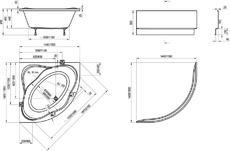 Акриловая ванна Ravak NewDay PU RLUS 140x140