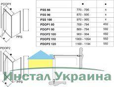 Неподвижная стенка Pivot PPS-80 белый+transparent