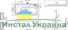 Акриловая ванна Ravak Praktik PU plus 185x90 R правосторонняя