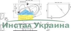 Акриловая ванна Ravak Rosa I 160 x 105 L левосторонняя