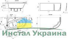Акриловая ванна Ravak Rosa 95 160 x 95 R правосторонняя