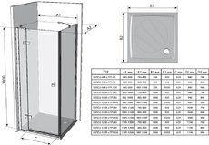 Неподвижная стенка SmartLine SMPS 90 R правосторонняя хром+transparent