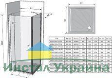 Неподвижная стенка SmartLine SMPS 90 L левосторонняя хром+transparent