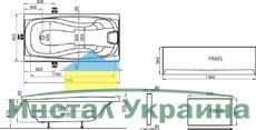 Акриловая ванна Ravak XXL 190x95