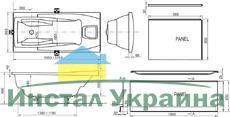 Акриловая ванна Ravak You PU Plus 185x85