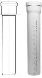купить Труба канализационная с раструбом Ostendorf Skolan dB DN 56*150 мм