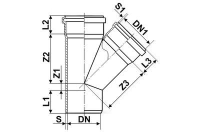 Мпласт Тройник 45 град. DN 500-110 для наружной канализации цены