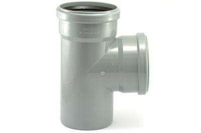 Мпласт тройник 110-110-87° для внутренней канализации цены