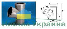 WAVIN EKOPLASTIK Тройник ВТ/ПВХ; 75х75/67 град. (3060421805) для внутренней канализации