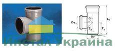 WAVIN EKOPLASTIK Тройник ВТ/ПВХ; 110x110/88 град. (3060422408) для внутренней канализации
