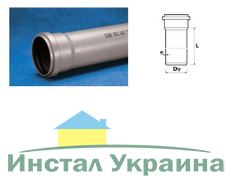 Труба Wavin Ekoplastik ПВХ внутренней канализации; 50x2.5x1000 (3060711260)
