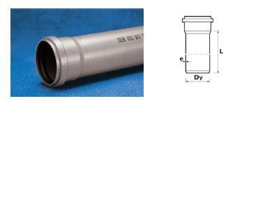 Труба Wavin Ekoplastik ПВХ внутренней канализации; 50x2.5x1000 (3060711260) цена