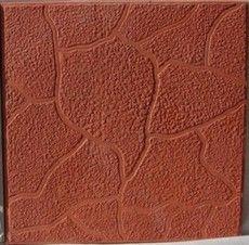 Тротуарная плитка Плита 300х300 (красный) для пешеходной зоны (4 см)