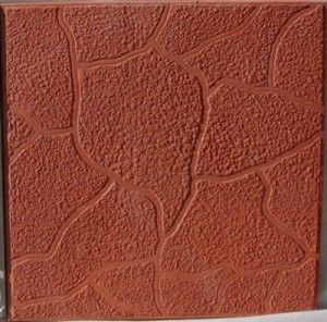 Тротуарная плитка Плита 300х300 (красный) для пешеходной зоны (4 см) цена