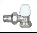 Кран термостатический угловой 1/2 с накидной гайкой ECO Tehnology 8002 цена