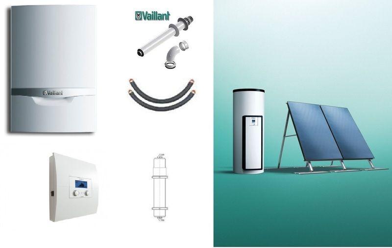 Пакет Vaillant ecoTEC plus VU OE 466/4+auroSTEP plus 3.350 HT+VRS620+Патрон для смягчения воды подпитки (0020201586)