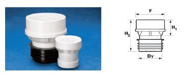 """WAVIN EKOPLASTIK Клапан воздушный """"Maxi Vent""""; 75, 110 (3260901400) для внутренней канализации цена"""