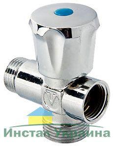 VT.255 Вентиль-тройник VALTEC для подключения с/т приборов 1/2`х3/4`х1/2`