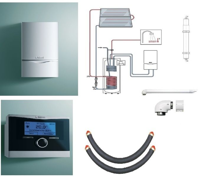 Пакет Vaillant ecoTEC plus VU OE 656/4+auroSTEP plus 2.250 HT+VRC470 +Патрон для смягчения воды подпитки (0020201555)