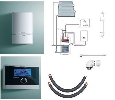 Пакет Vaillant ecoTEC plus VU OE 466/4+auroSTEP plus 3.350 HT+VRC470 +Патрон для смягчения воды подпитки (0020201551) цены