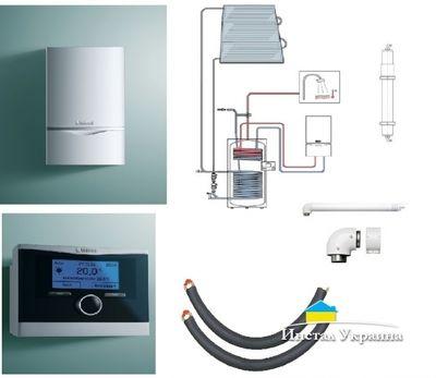 Пакет Vaillant ecoTEC plus VU OE 656/4+auroSTEP plus 3.350 HT+VRS620+Патрон для смягчения воды подпитки (0020201591) цены