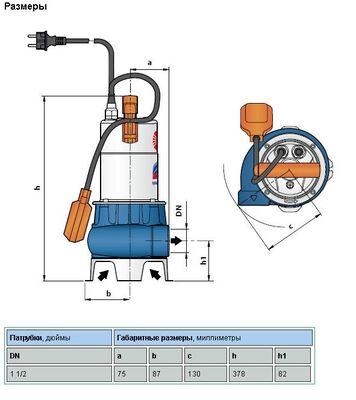 Насос дренажно-фекальный Pedrollo ZXm 1A/40, кабель 5м цена
