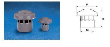WAVIN EKOPLASTIK Выпуск вентиляционной трубы, серый ;160 (3060623401) для внутренней канализации