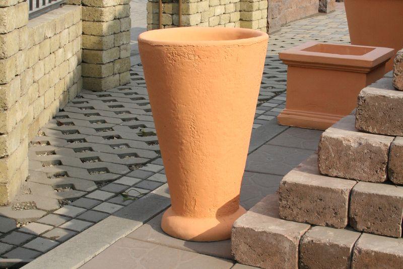 Бетонная ваза Классик (белый)