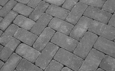 Тротуарная плитка Кирпич Антик 200х100 (серый) (6 см) цены