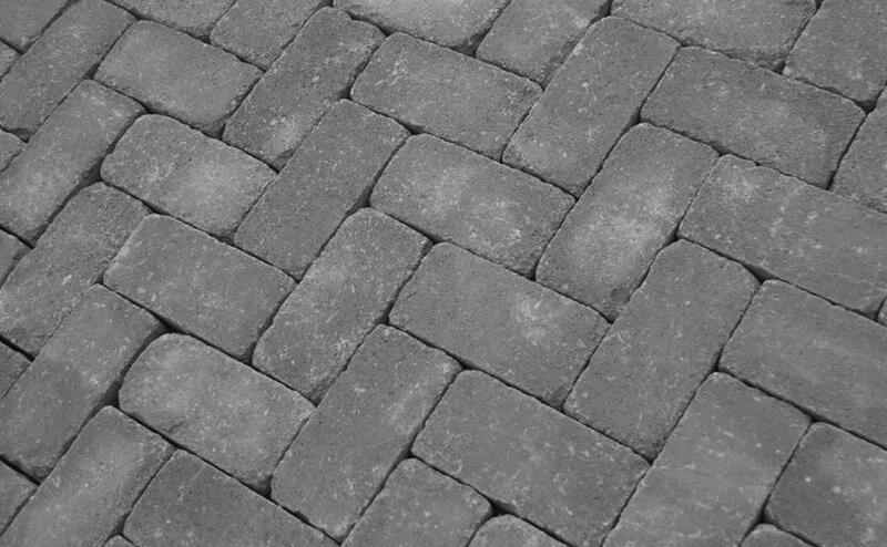 Тротуарная плитка Кирпич Антик 200х100 (серый) (6 см)