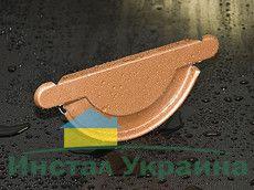 HyPro Заглушка желоба универсальная ф 125 глянцевая поверхность 8017 Коричневый