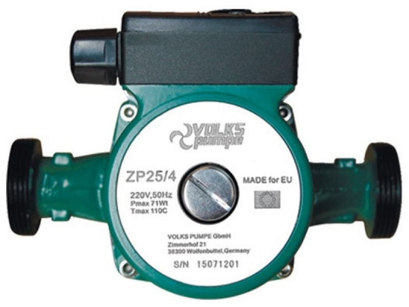 Насос циркуляционный VOLKS pumpe ZP25/4 130мм + гайки