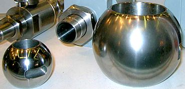 Фото материал сферы-затвора шарового крана